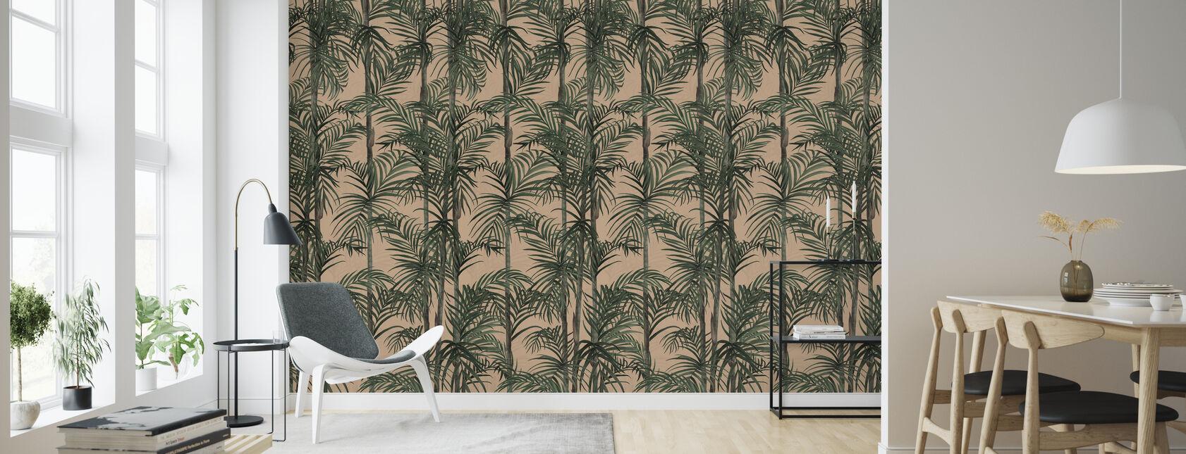 Botany Bamboo - Afternoon Blush - Wallpaper - Living Room