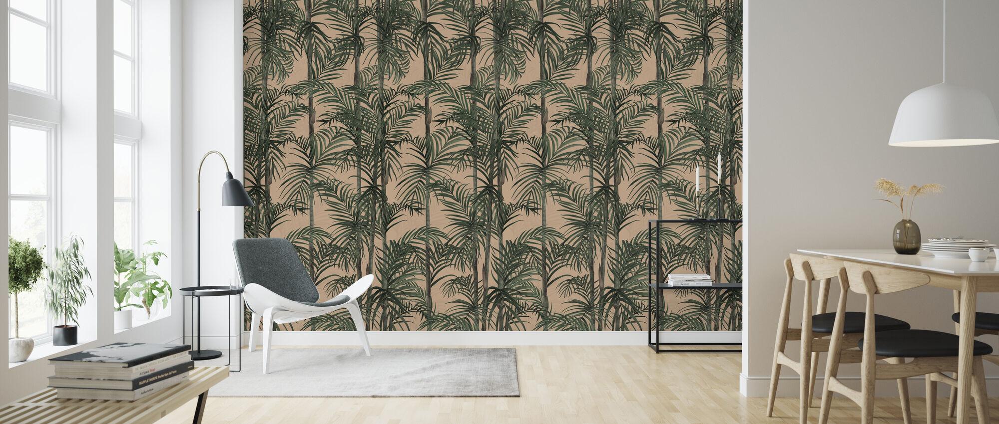 Kasvitieteen Bambu - Iltapäivä Blush - Tapetti - Olohuone