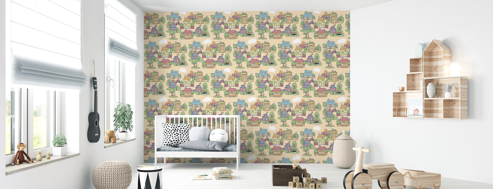 Little Town Sand - Wallpaper - Nursery