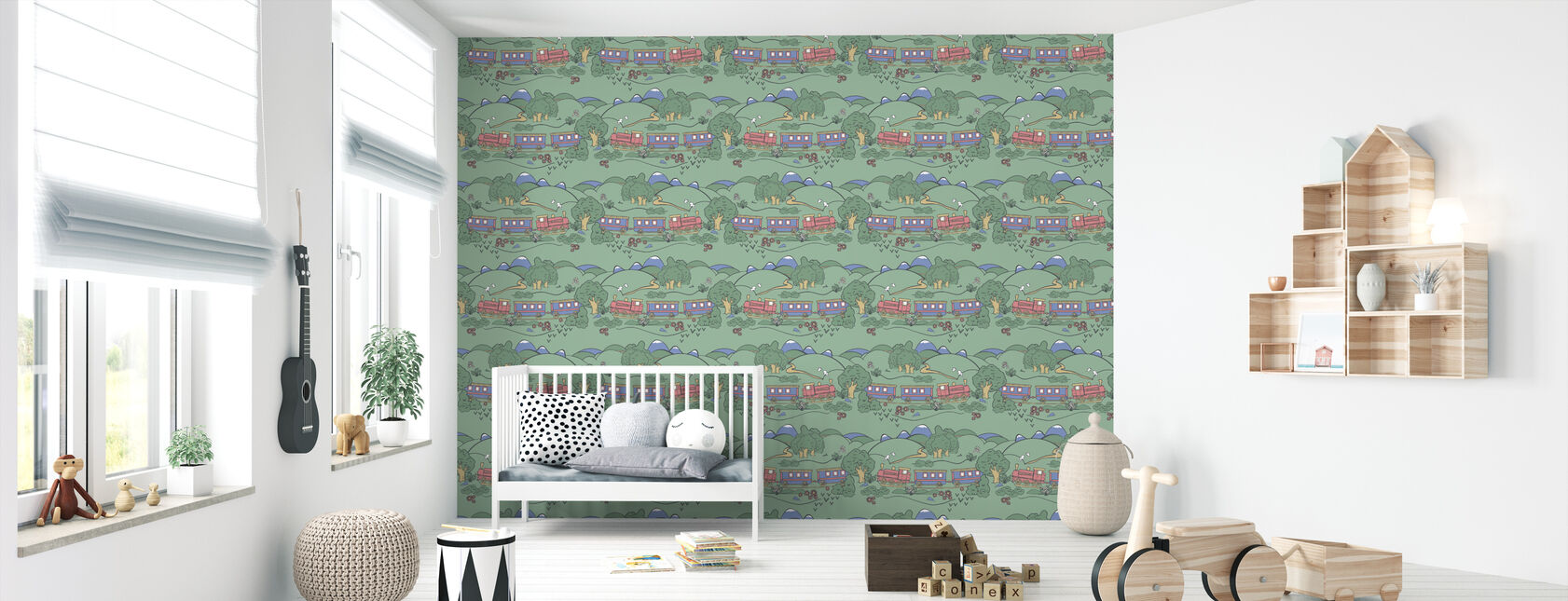 Train - Wallpaper - Nursery