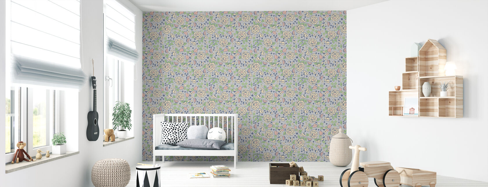 Walnut Grove Grey - Wallpaper - Nursery