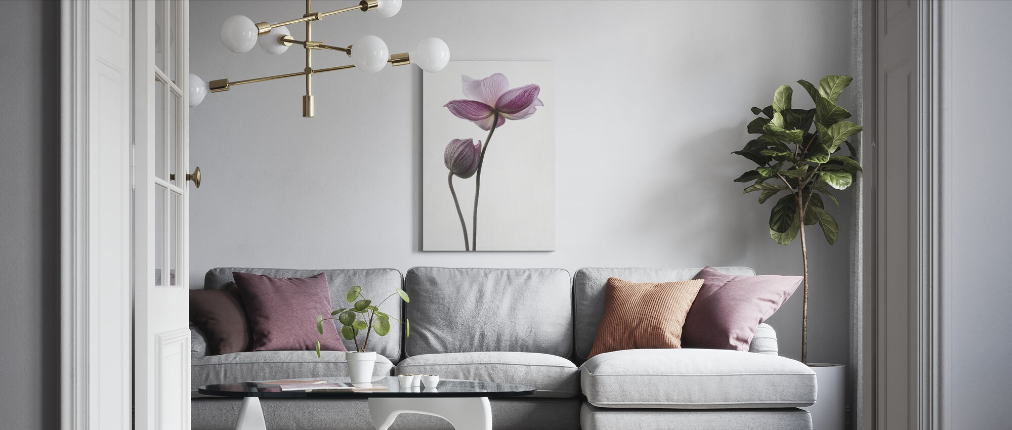 Little Touch in Colour - Canvas print - Living Room