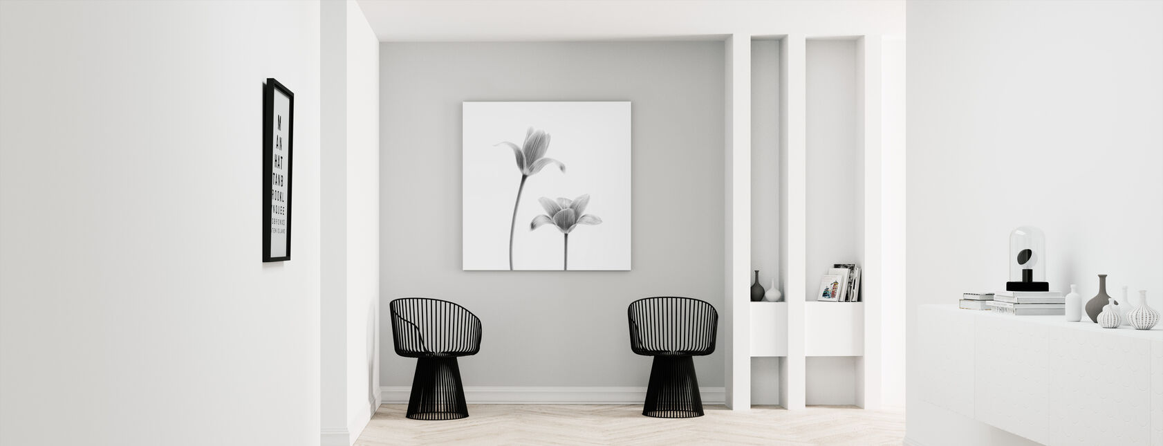 Two Tulips - Canvas print - Hallway