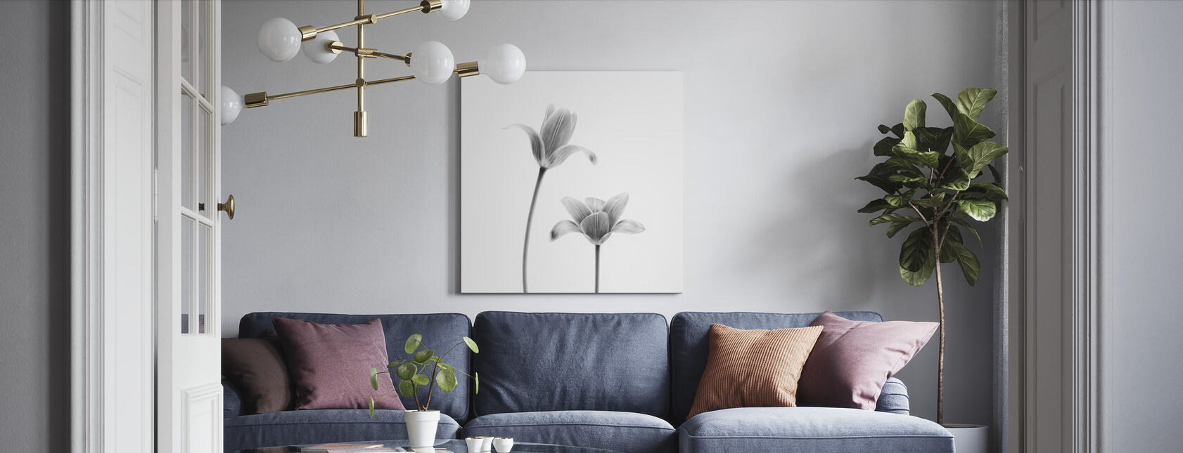 Two Tulips - Canvas print - Living Room
