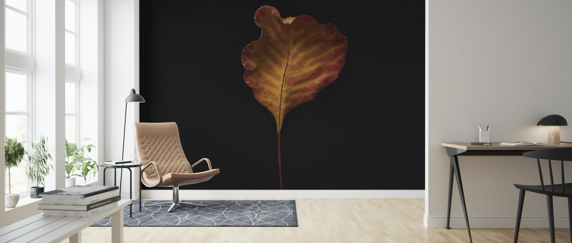 Cotinus Coggygria Leaf - Wallpaper - Living Room