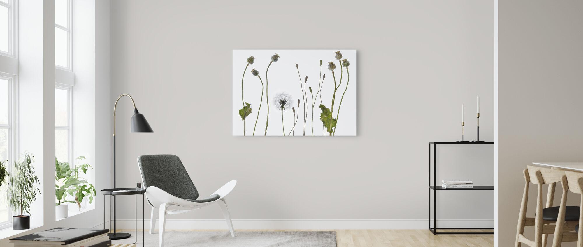 Poppy Pods - Canvas print - Living Room