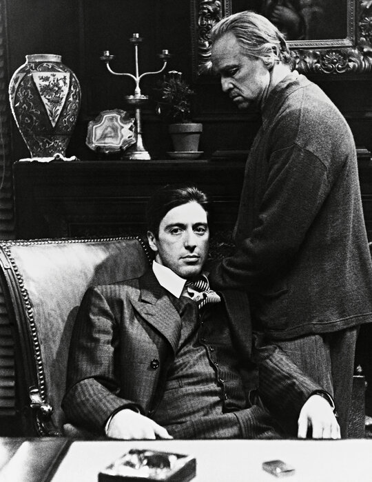 Godfather Al Pacino And Marlon Brando Evocative Poster