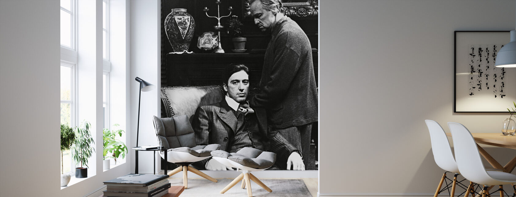 Godfather - Al Pacino and Marlon Brando - Wallpaper - Living Room