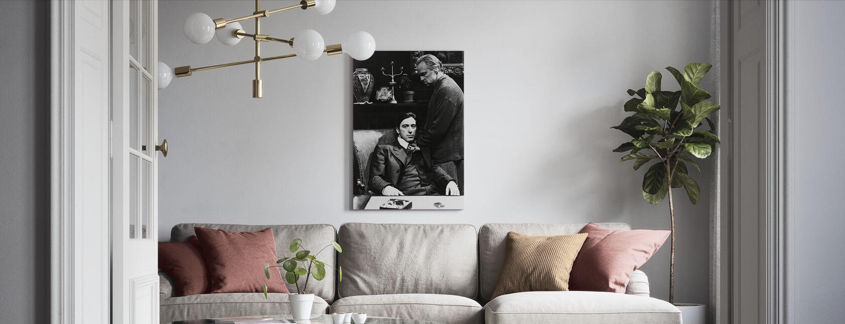 Gudfaren - Al Pacino og Marlon Brando - Lerretsbilde - Stue
