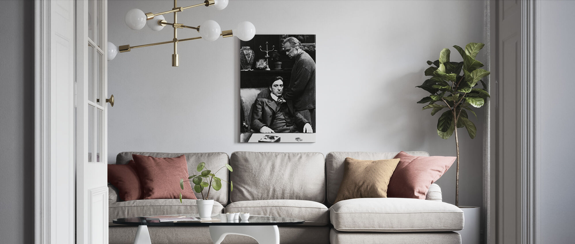 Godfather - Al Pacino and Marlon Brando - Canvas print - Living Room