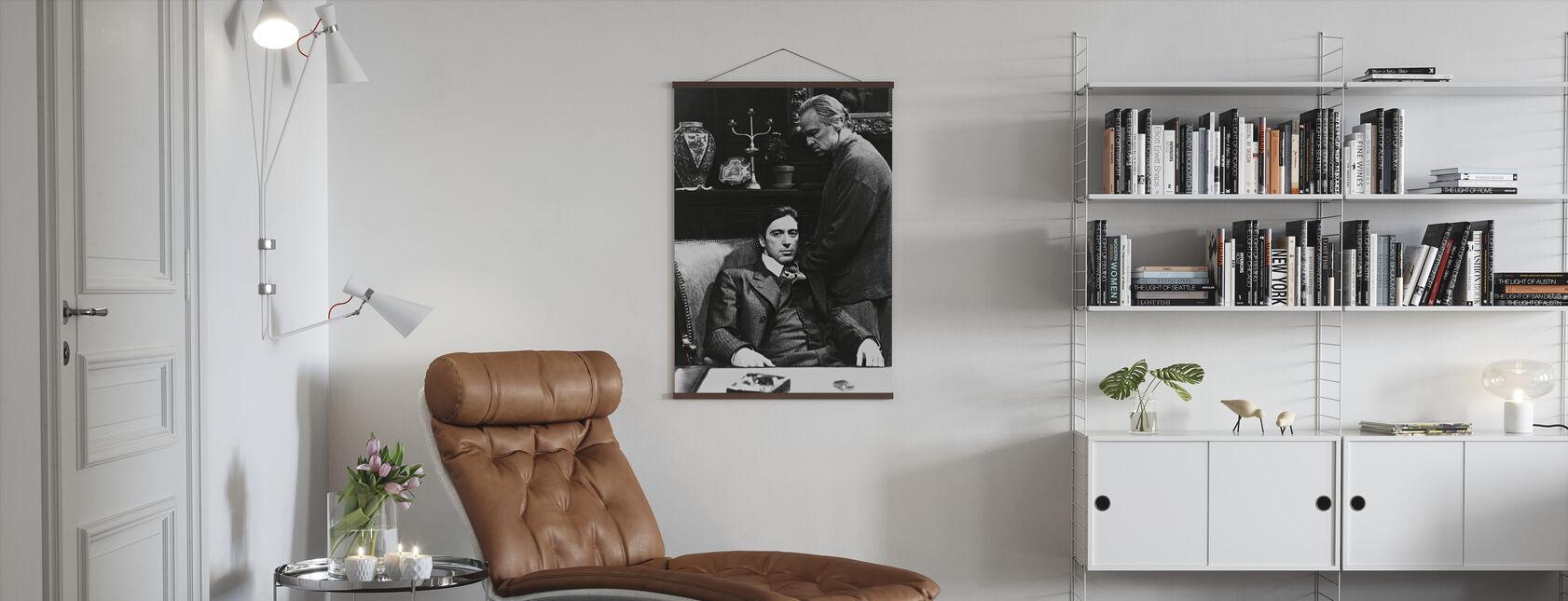 Gudfaren - Al Pacino og Marlon Brando - Plakat - Stue