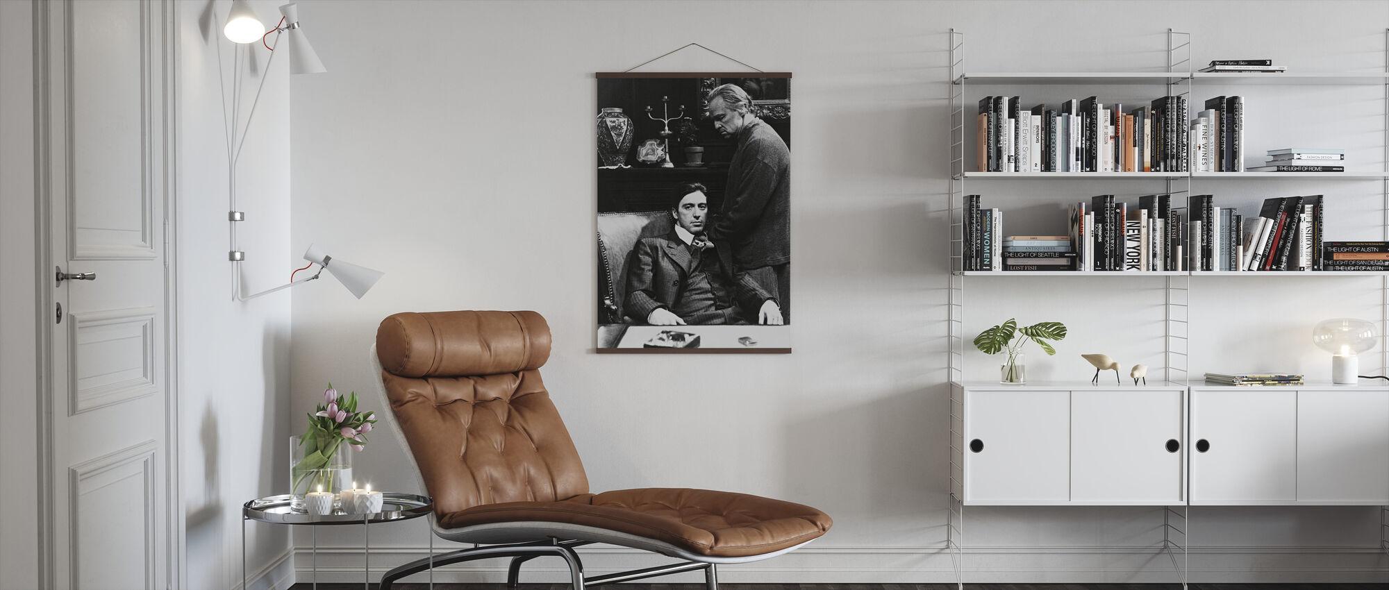 Godfather - Al Pacino and Marlon Brando - Poster - Living Room