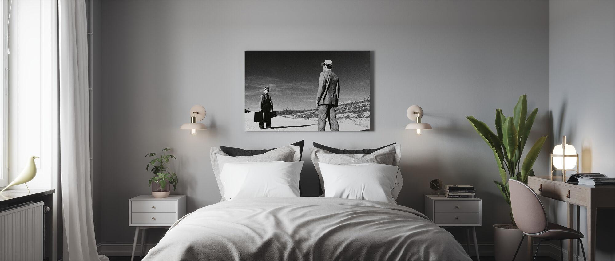 Papieren Maan - Ryan Oneal en Tatum Oneal - Canvas print - Slaapkamer