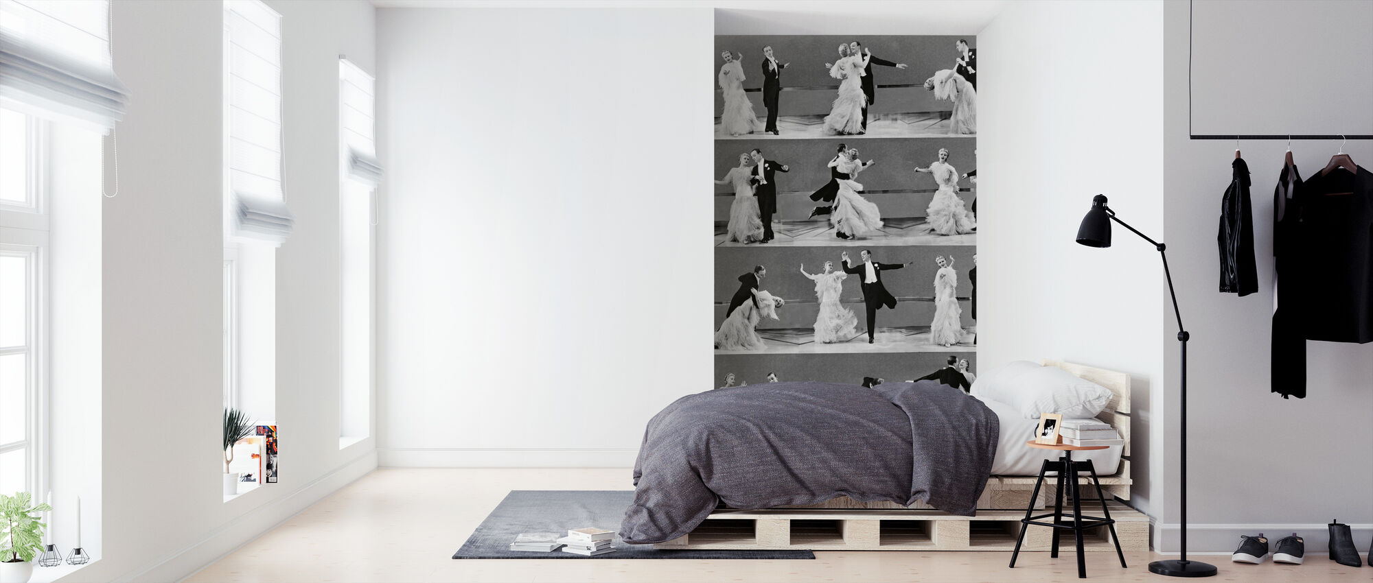 Top Hat - Ginger Rogers og Fred Astaire - Tapet - Soveværelse