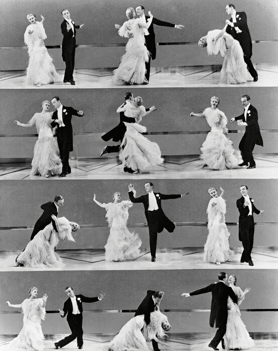 Top Hat Ginger Rogers And Fred Astaire Stylish Poster Photowall