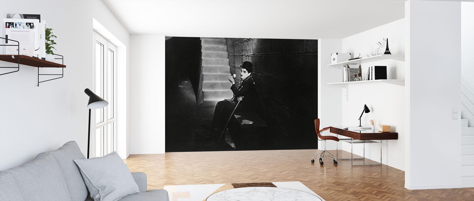 Bylys - Charlie Chaplin - Tapet - Kontor