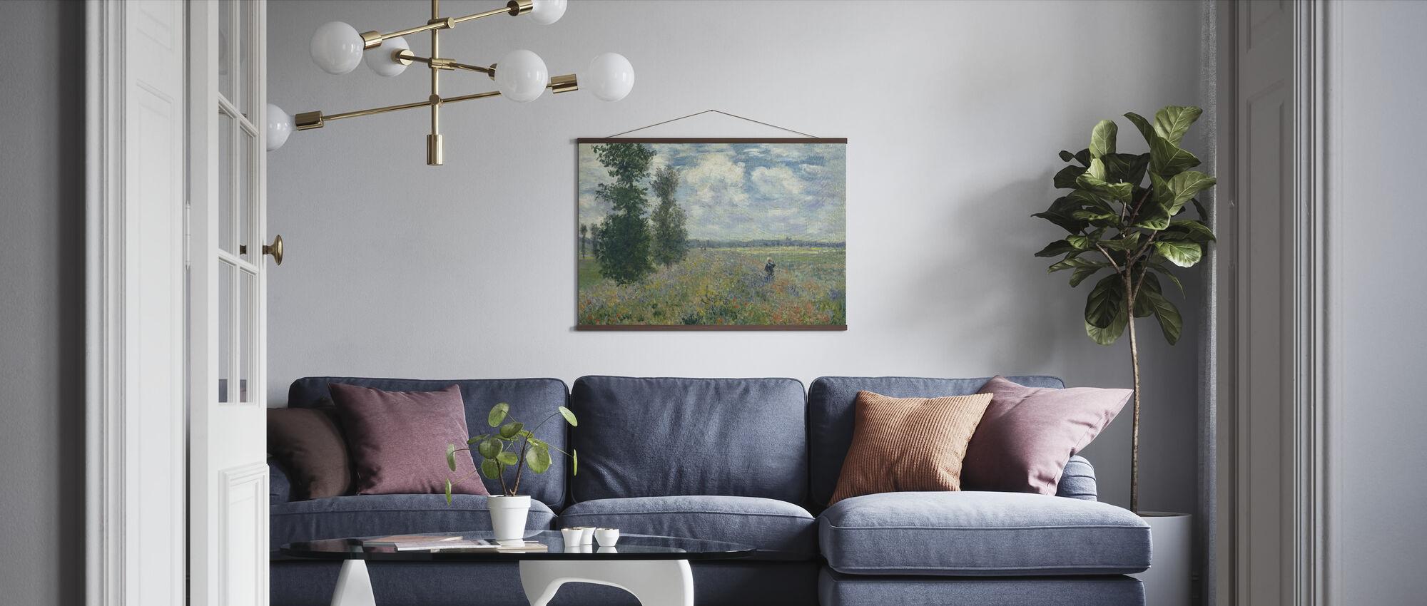Poppy Fields - Claude Monet - Poster - Living Room