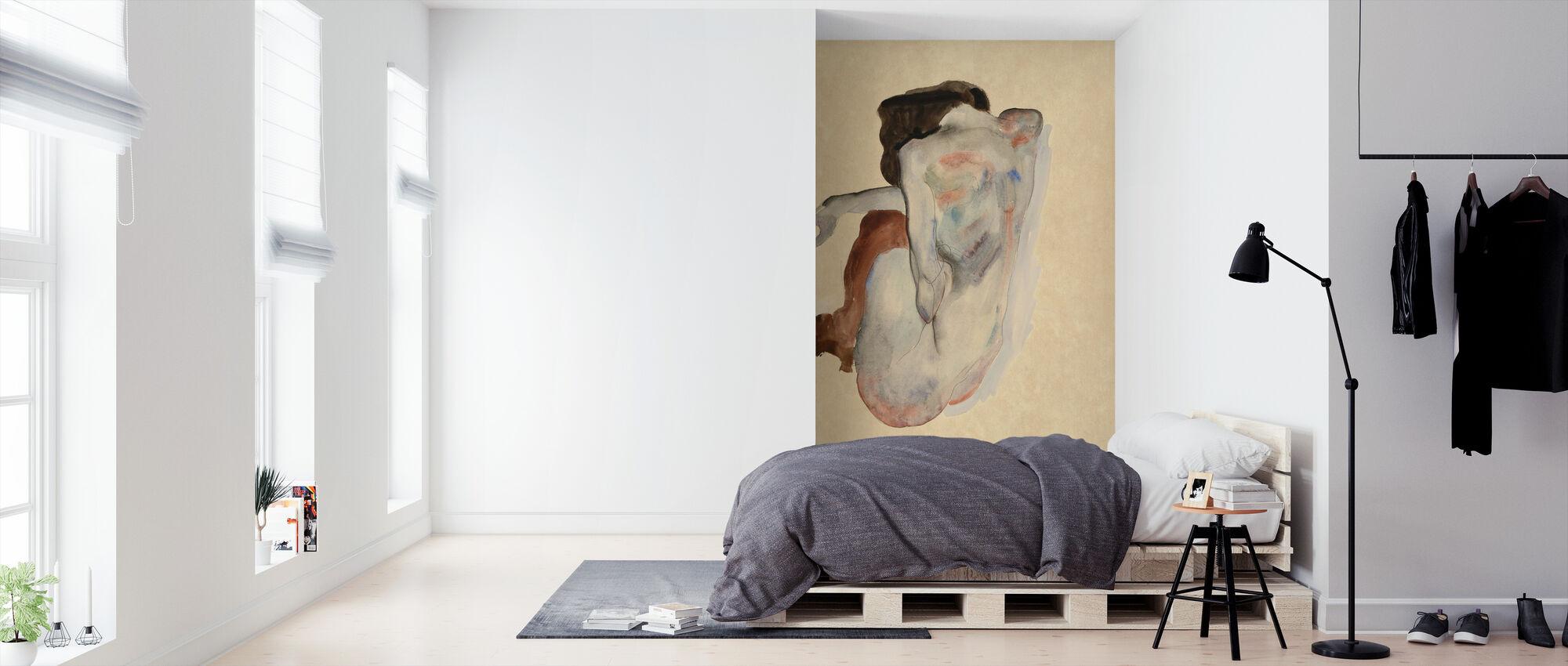 Crouching Nude - Egon Schiele – Mit Fototapeten einrichten ...