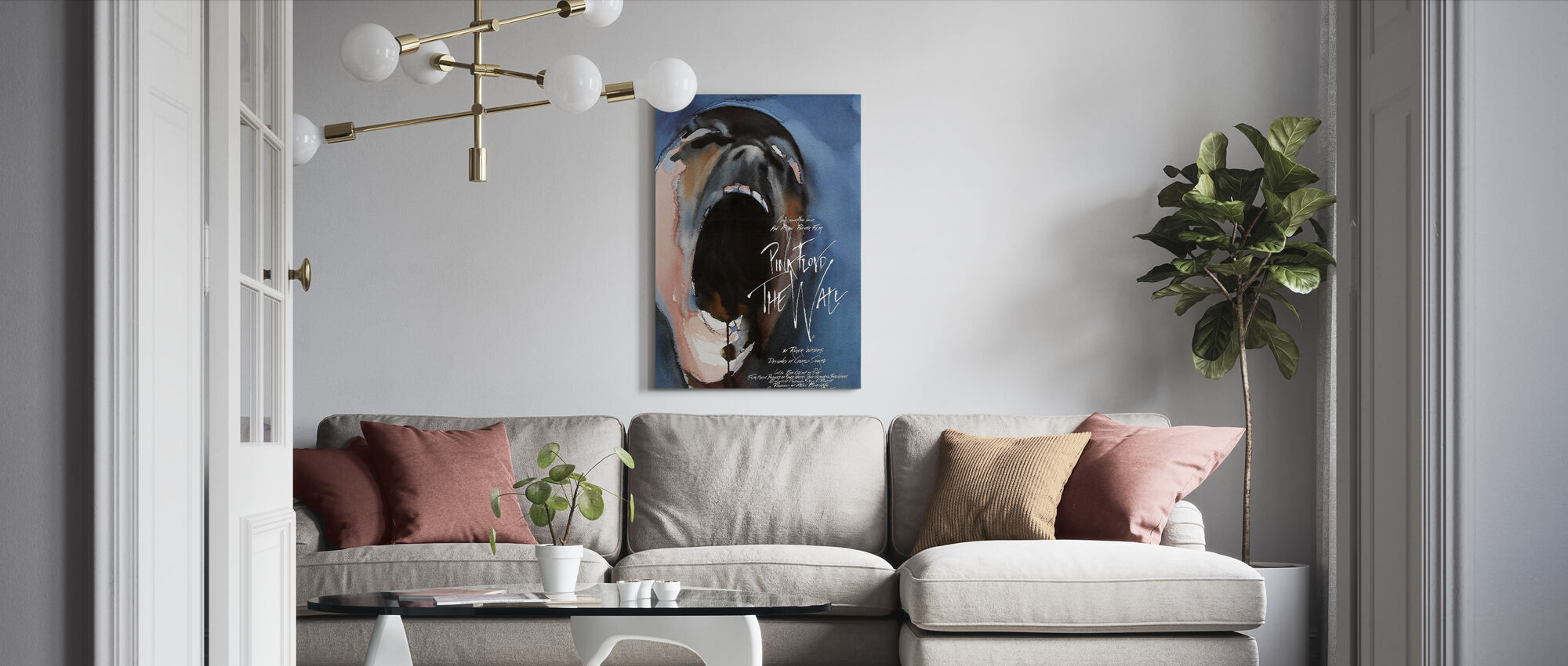 Wall - Pink Floyd - Canvas print - Living Room