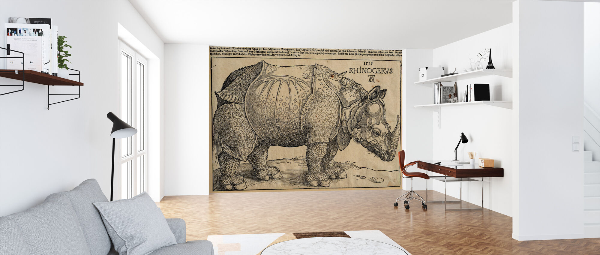 Rhinoceros - Abrecht Durer - Wallpaper - Office