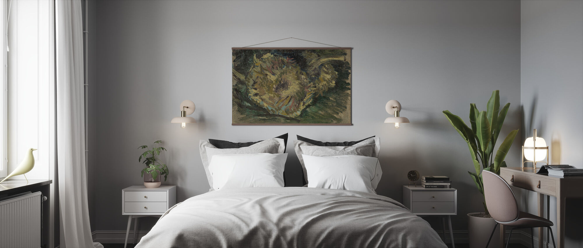 Two Cut Sunflowers - Vincent Van Gogh - Poster - Bedroom