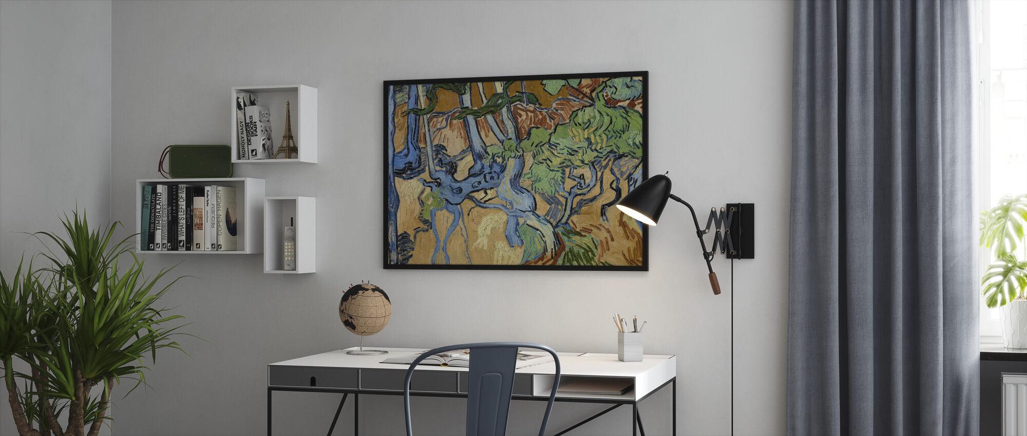 Rötter - Vincent Van Gogh - Inramad tavla - Kontor