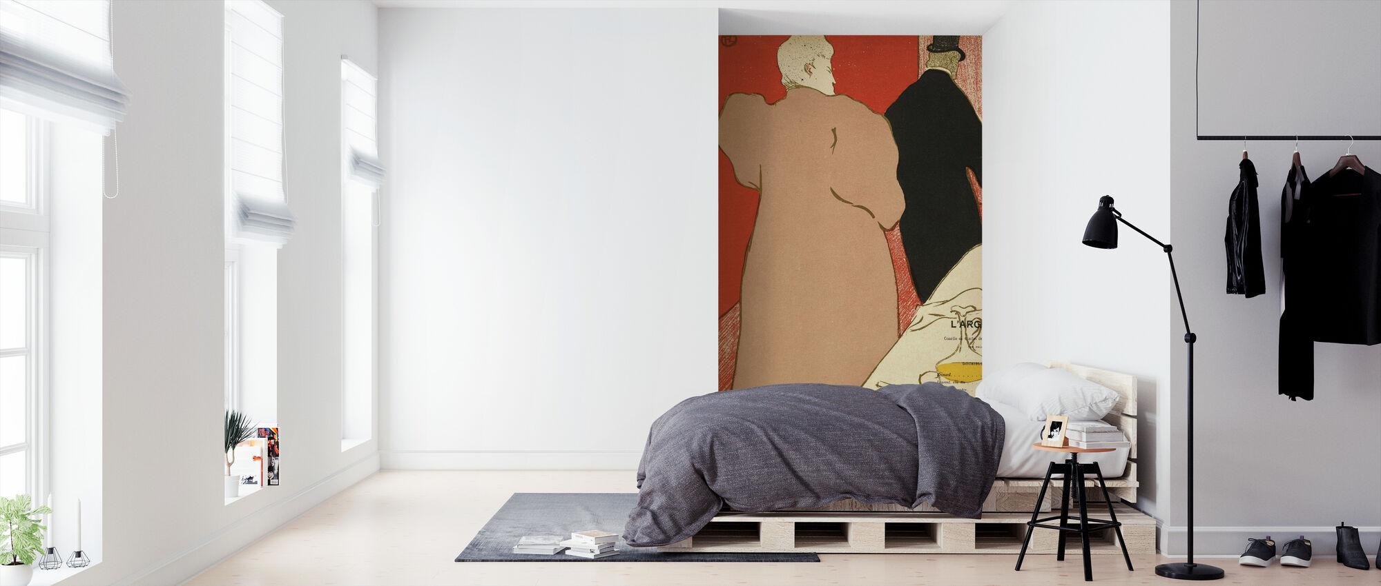 Het zilver - Emile Fabre - Behang - Slaapkamer