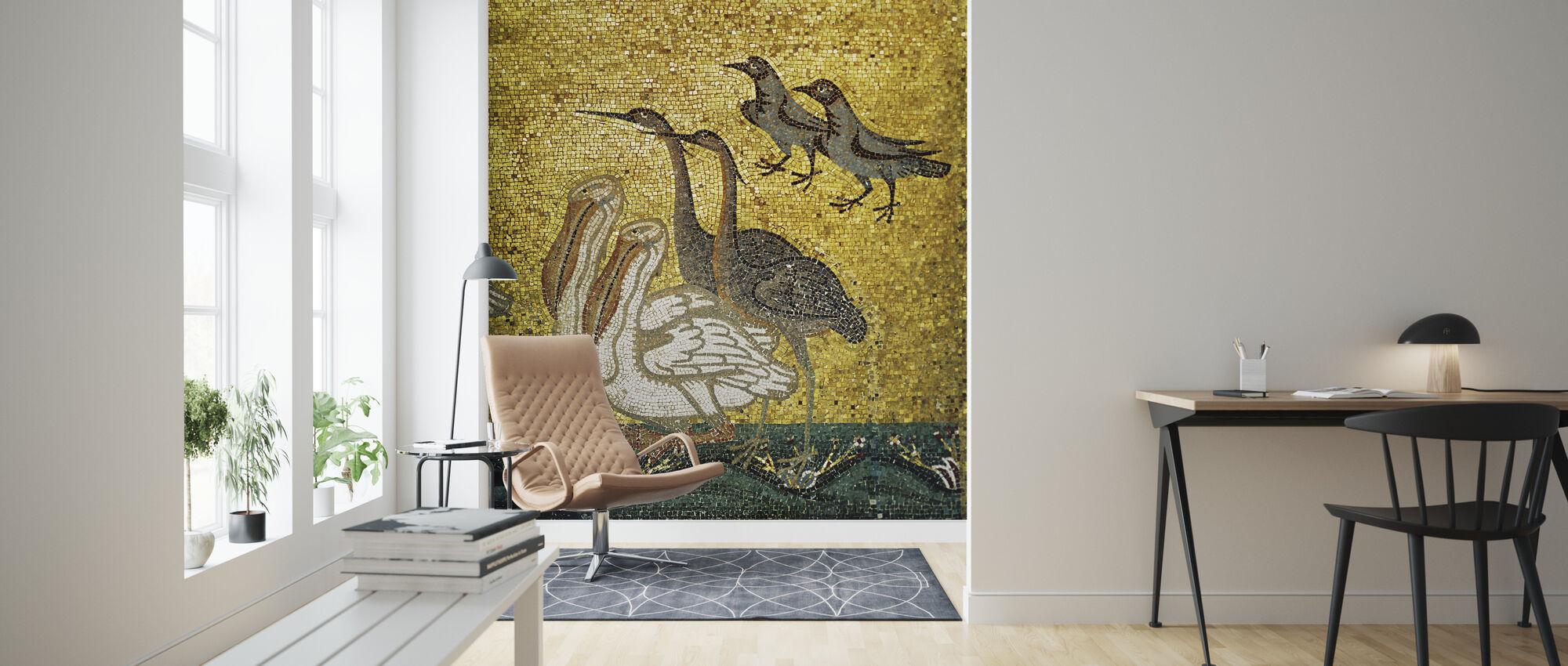 Diverse Vogels - Behang - Woonkamer