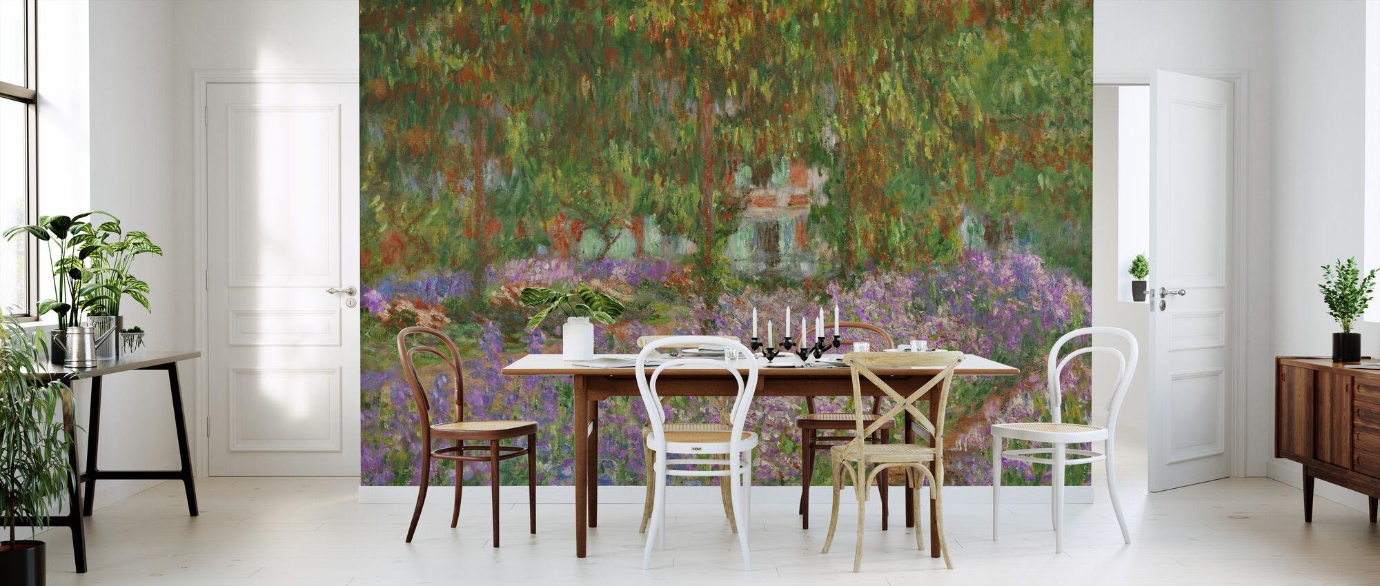Garden at Giverny - Claude Monet - Wallpaper - Kitchen
