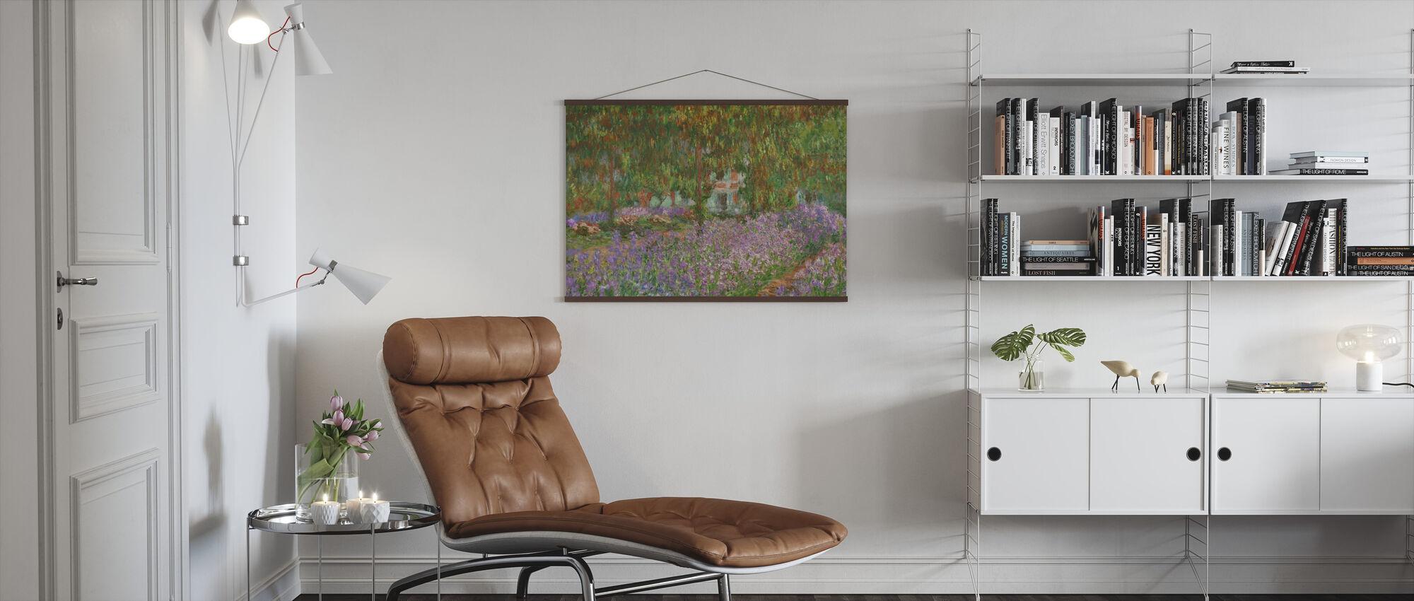 Hage på Giverny - Claude Monet - Plakat - Stue