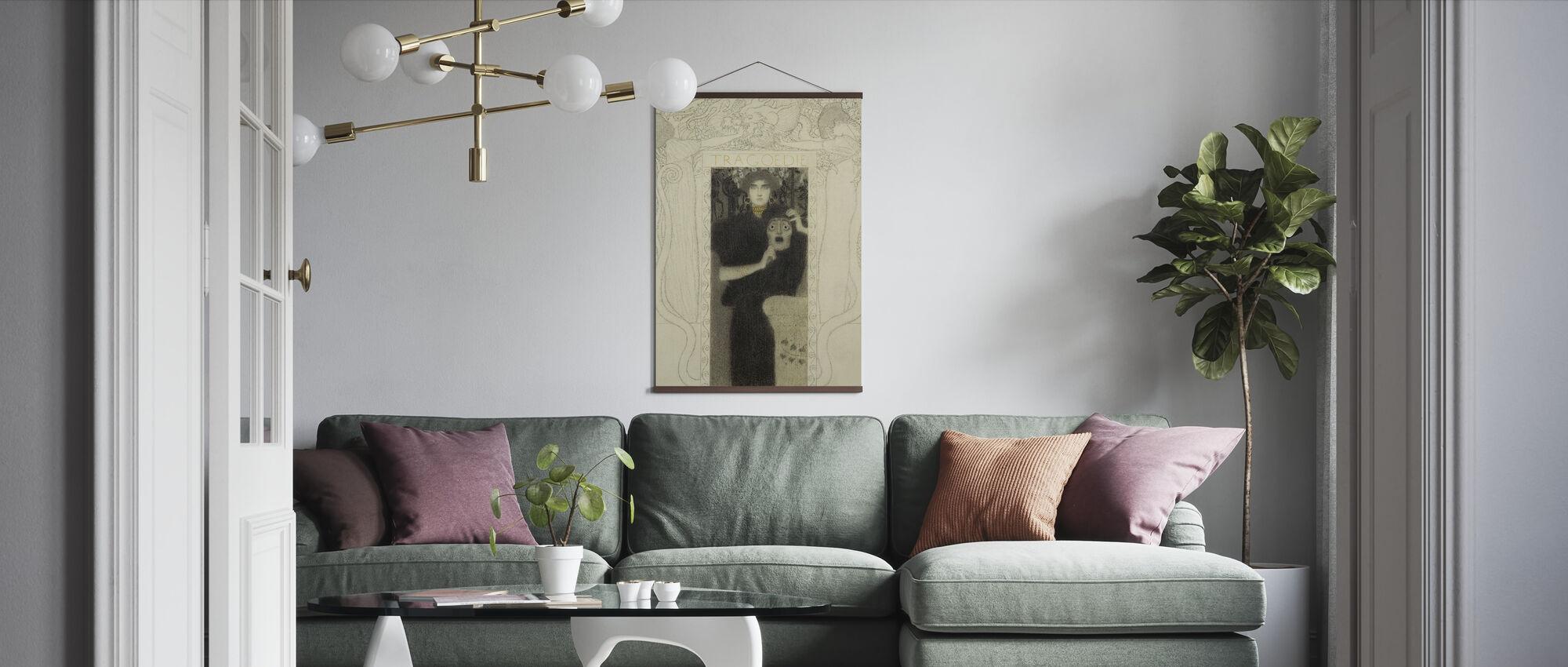 Tragedy - Gustav Klimt - Poster - Living Room