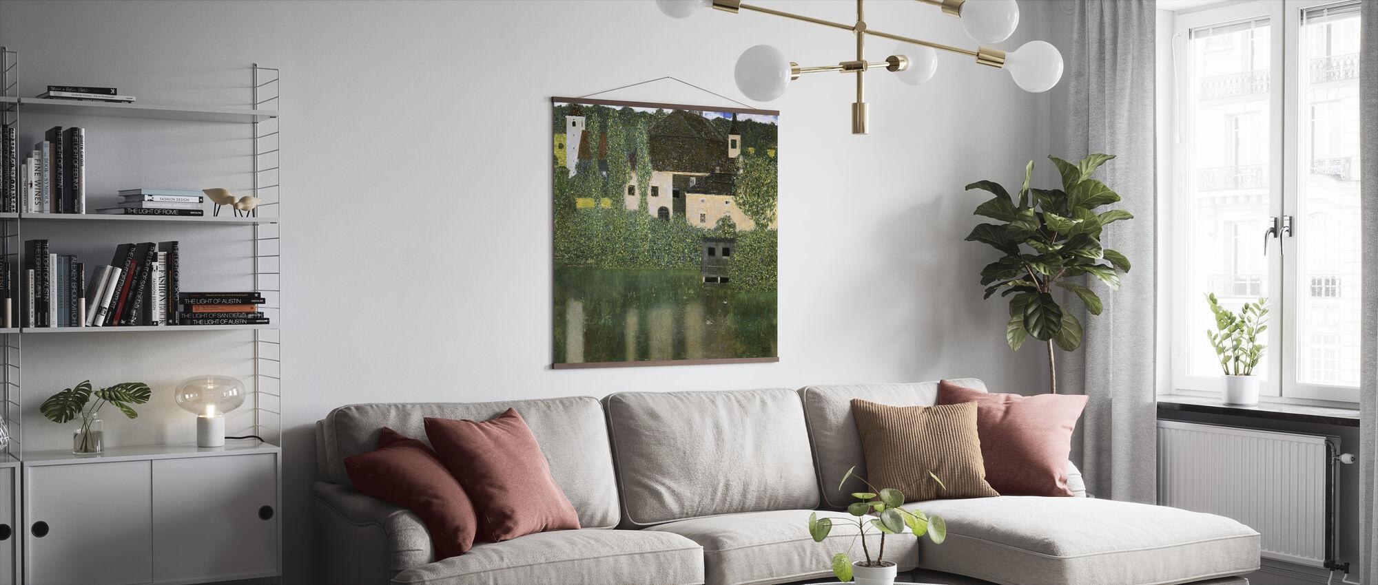 Water Castle - Gustav Klimt - Poster - Living Room