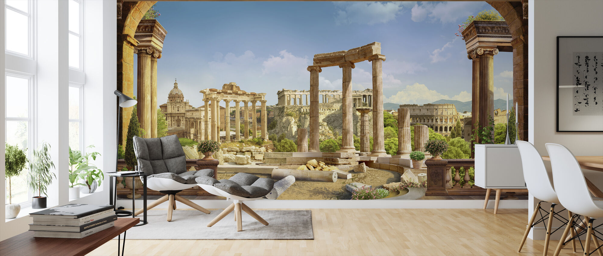 Old Rome - Wallpaper - Living Room