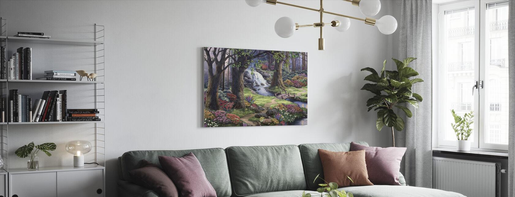 Drømmende landskab - Billede på lærred - Stue