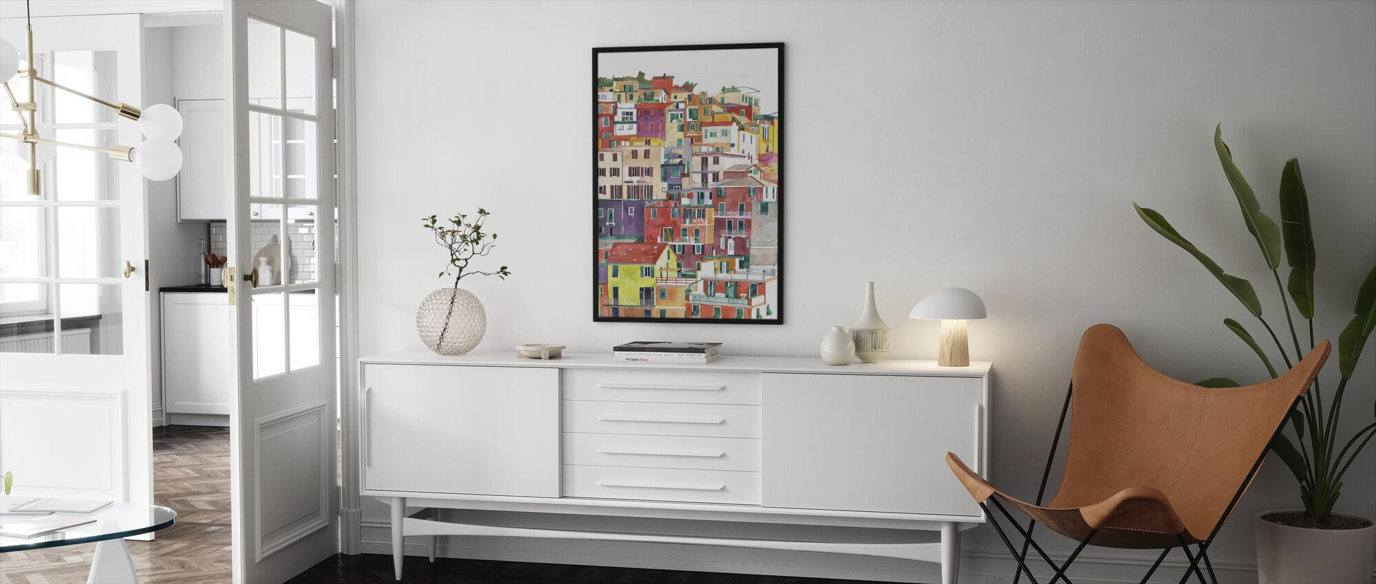 Cinque Terren - Kehystetty kuva - Olohuone