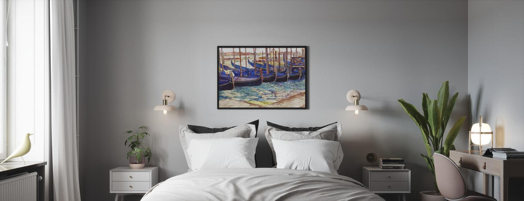 Gondolas in Venice - Framed print - Bedroom
