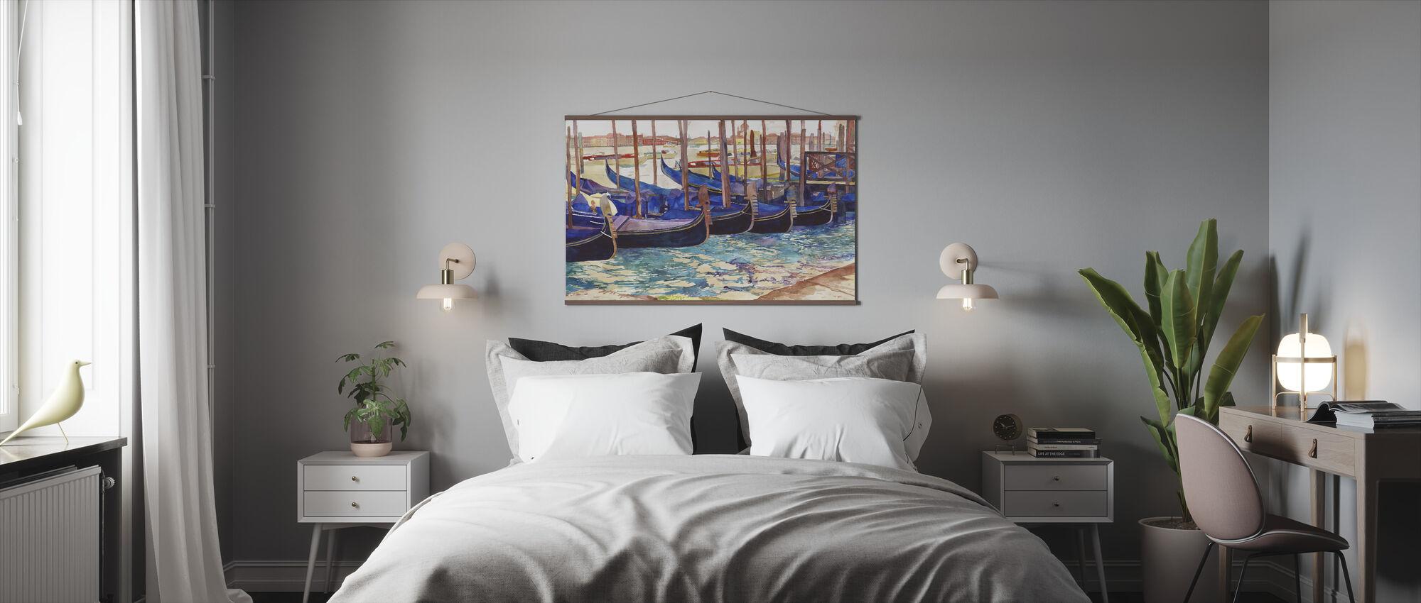 Gondels in Venetië - Poster - Slaapkamer