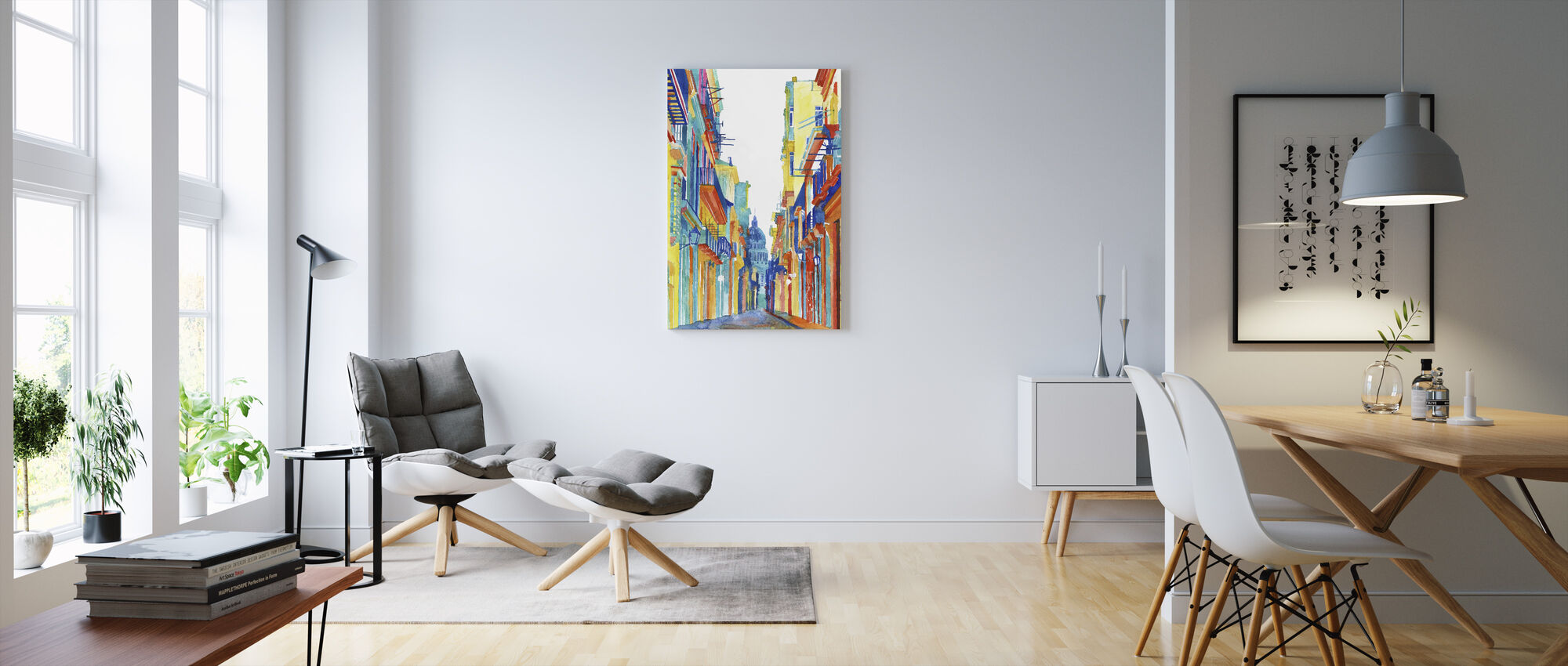 Havanna Gatan - Canvastavla - Vardagsrum