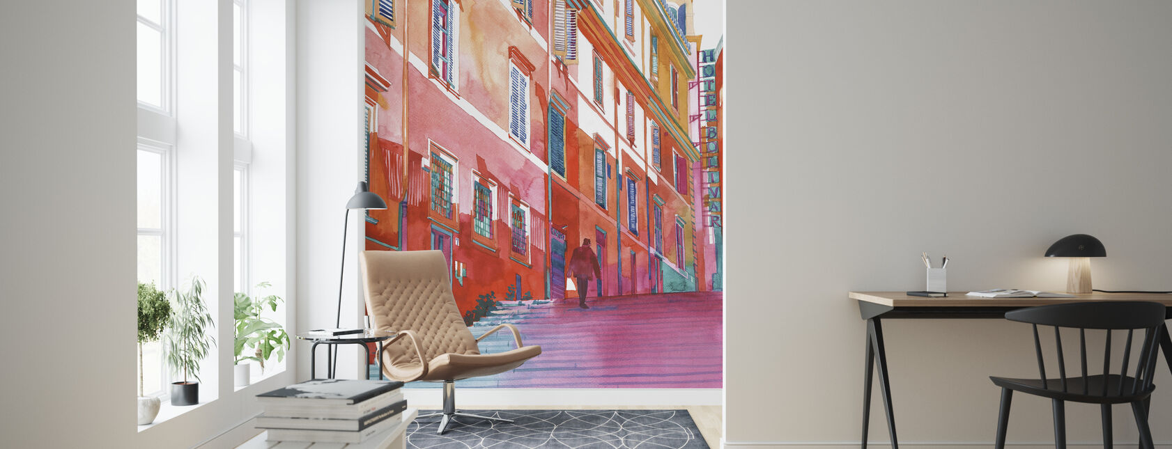 Hotel in Rome - Wallpaper - Living Room