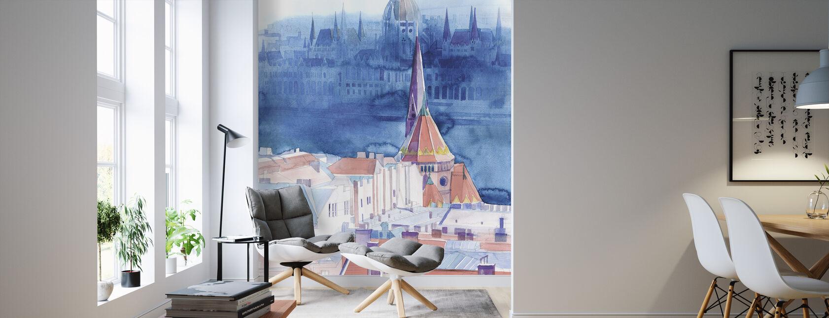 Morning in Budapest - Wallpaper - Living Room