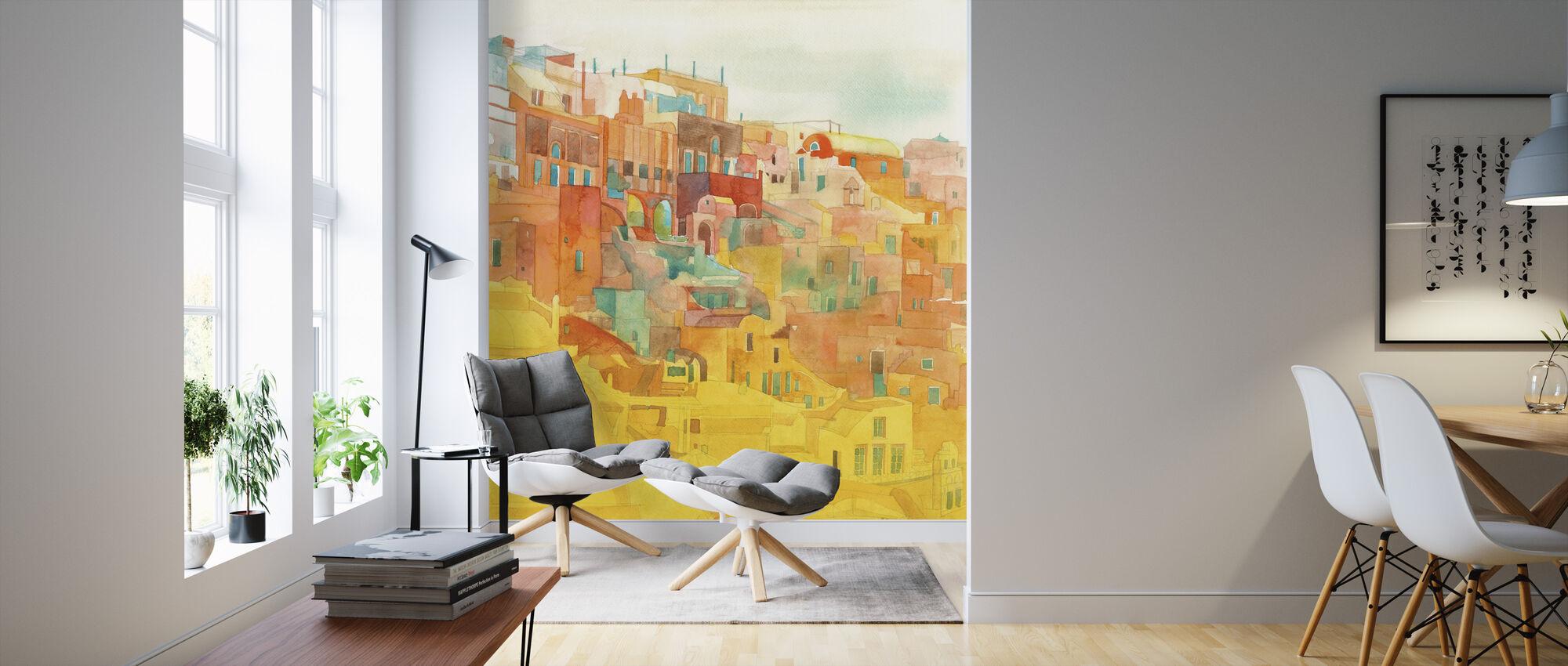 Summer on Mykonos - Wallpaper - Living Room