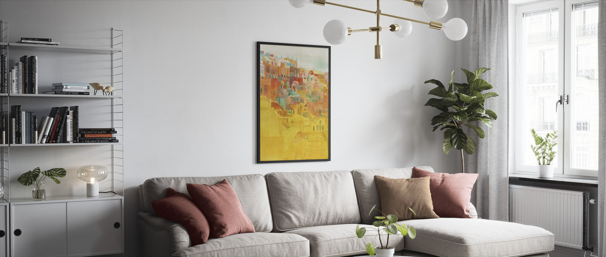 Kesä Mykonos - Kehystetty kuva - Olohuone