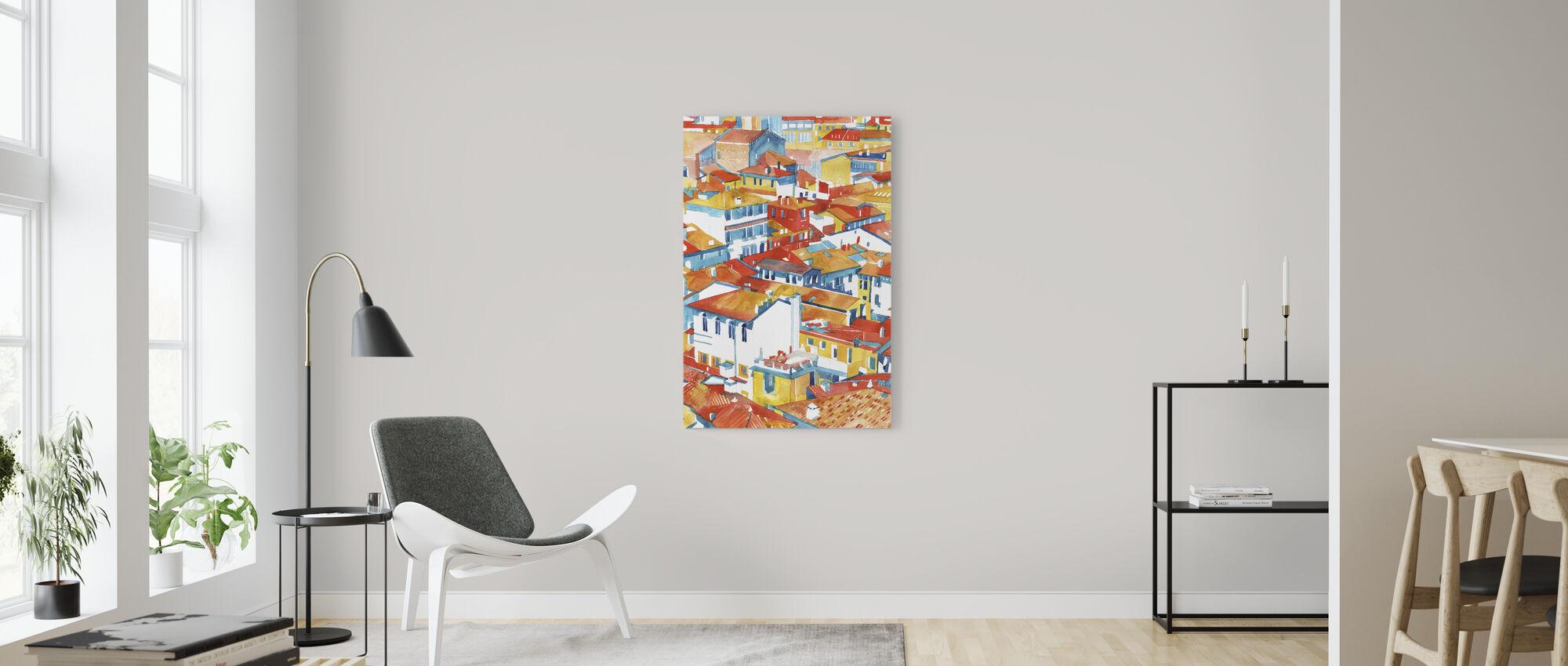 Verona Byggnader - Canvastavla - Vardagsrum