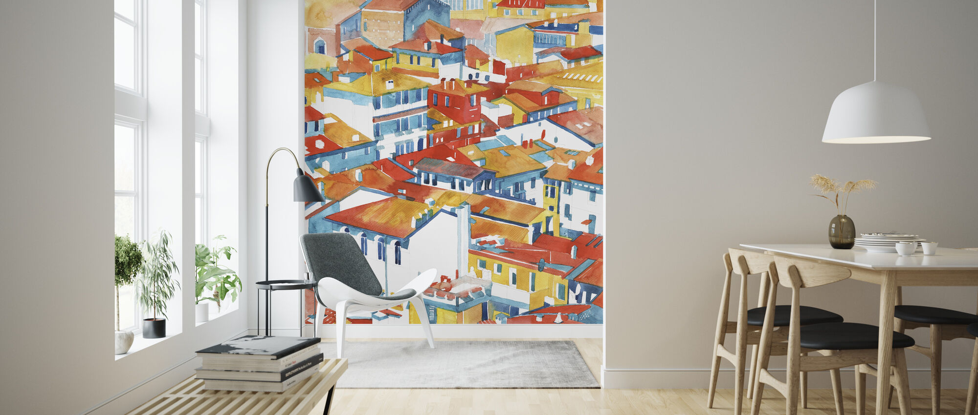 Verona Buildings - Wallpaper - Living Room