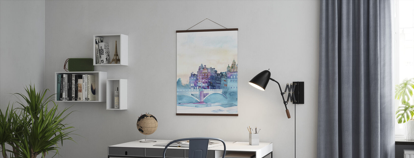 Vinter i Edinburgh - Poster - Kontor