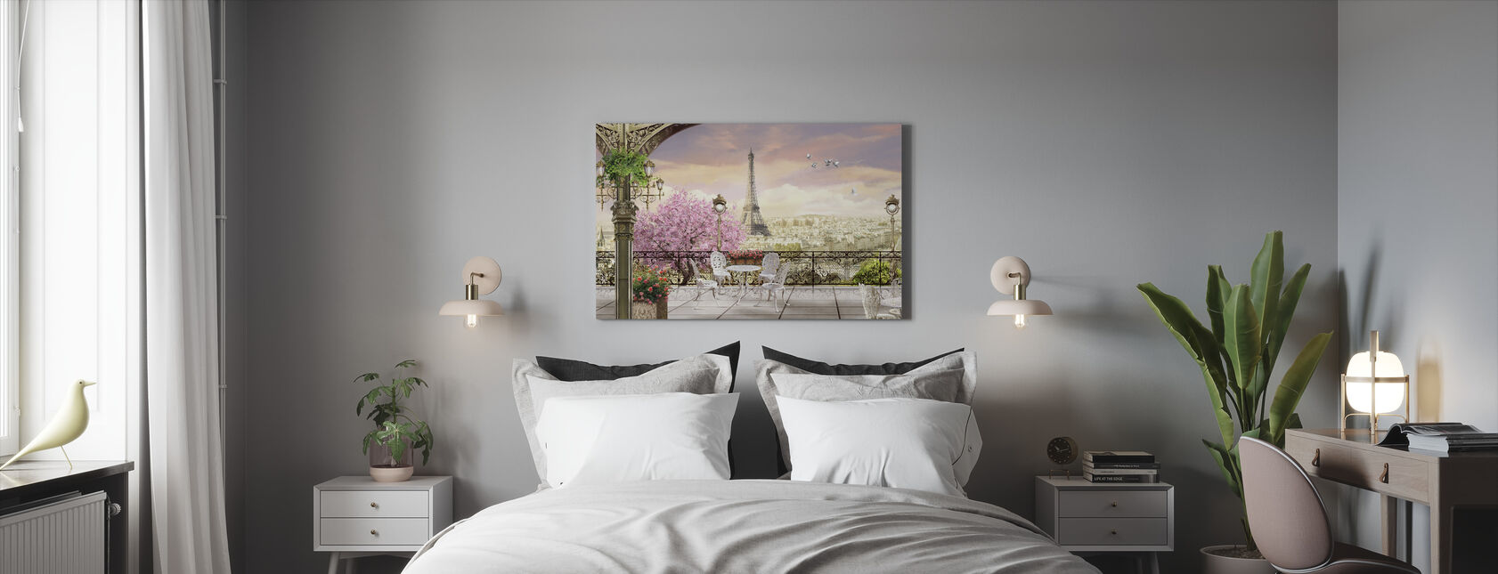 Paris Terrace - Canvas print - Bedroom