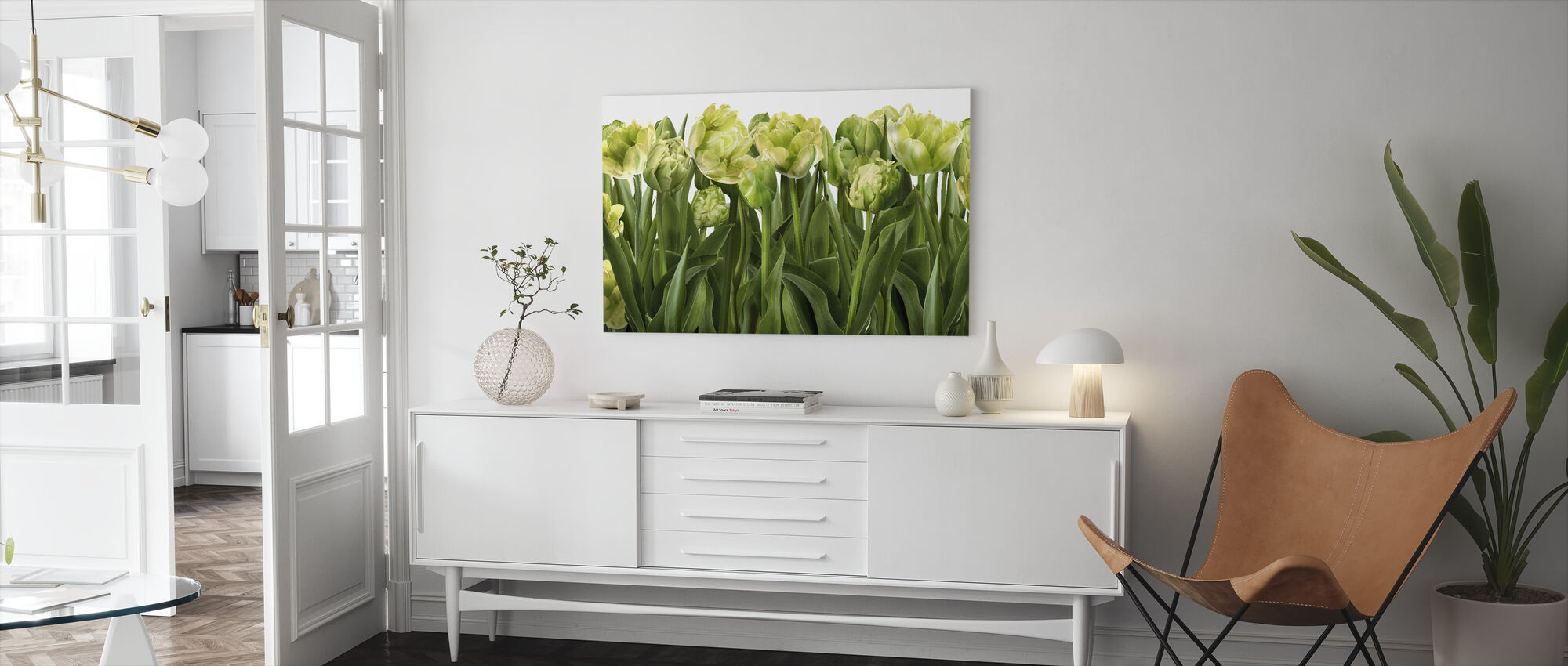 Tulips and Tulips - Canvas print - Living Room