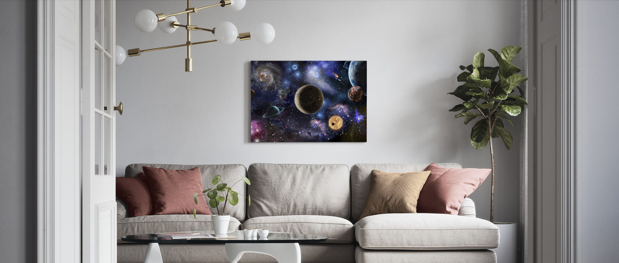 Amazing Space - Canvas print - Living Room