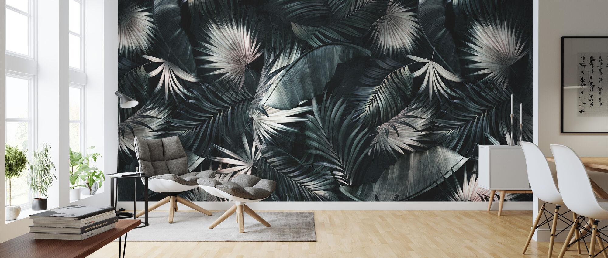 Tropiske blade - Mørk - Tapet - Stue