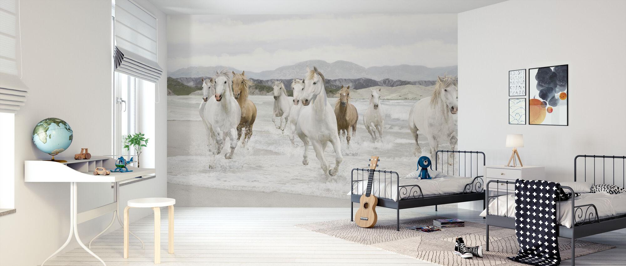 Wilde Paarden - Behang - Kinderkamer